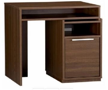 Crate & Barrel Puzzle Desk in Walnut