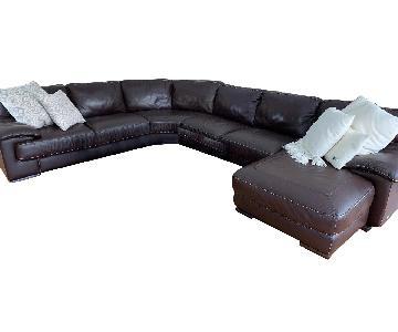 Natuzzi 5-Piece Leather Sectional Sofa