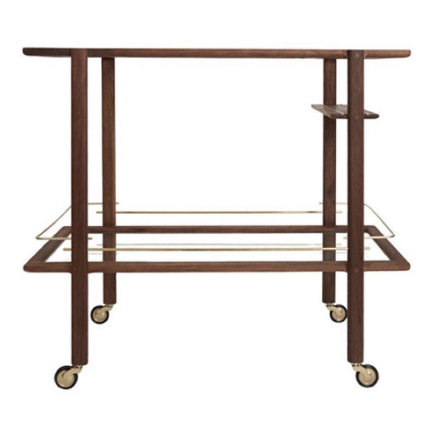 Chris Earl Walnut & Brass Bar Cart