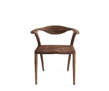 Organic Modernism Shanghai Chairs in American Walnut
