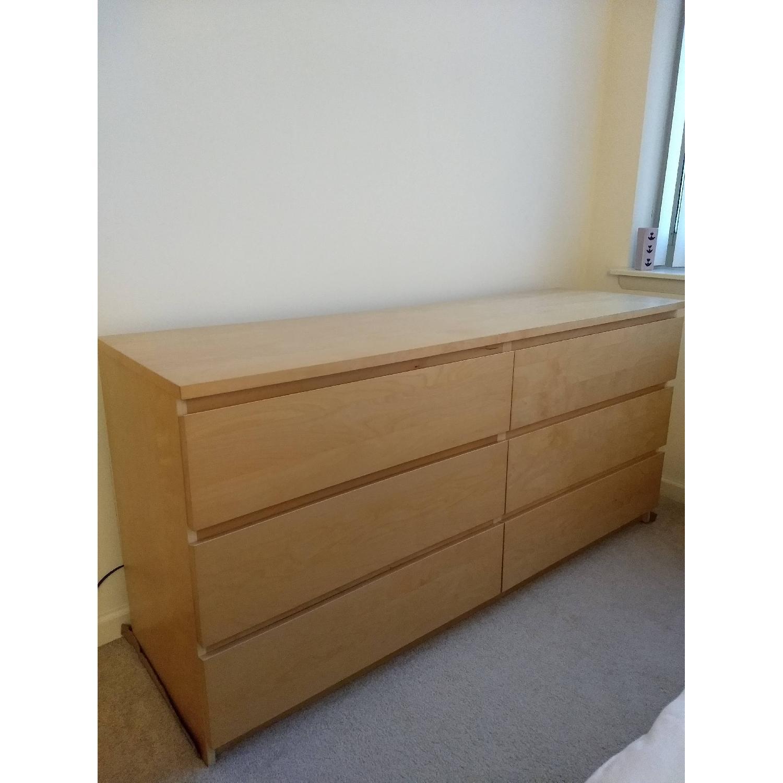 Ikea Malm 6 Drawer Dresser-1