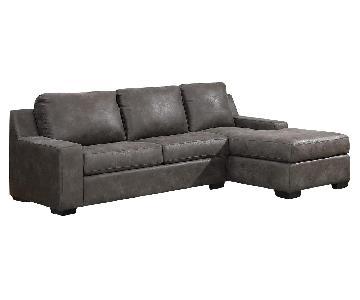Jennifer Convertibles Trina 2-Piece Sectional Sofa
