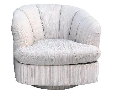 Directional Modern Swivel Club Chairs
