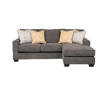 Jennifer Convertibles Hodan Dark Grey Sectional Sofa