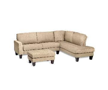 Jennifer Convertibles Haney 2-Piece Sectional Sofa & Ottoman