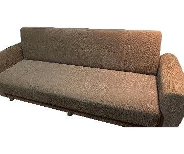 Beige Fabric Sleeper Sofa