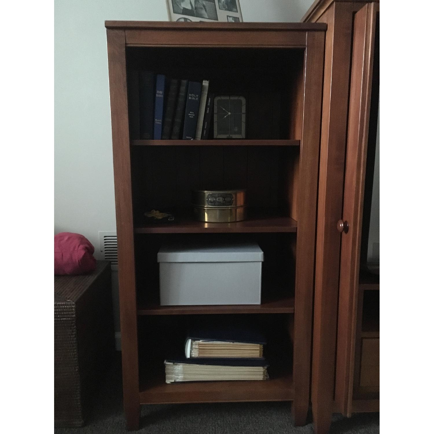 Ethan Allen Media Cabinet w/ 2 Bookcases