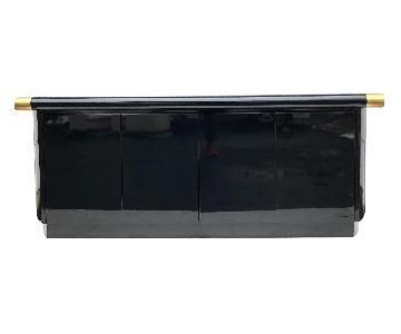 Italian Modern Black Lacquer Sideboard
