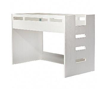 Crate & Barrel Kids White Glaze Low Twin Loft Bed