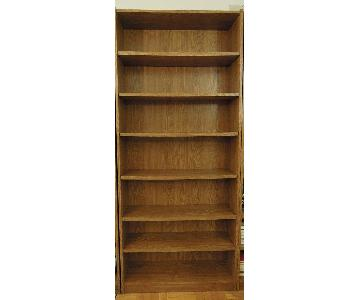 Wide Wood Bookcase