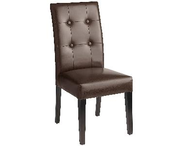 Pier 1 Faux Brown Leather Dining Chairs