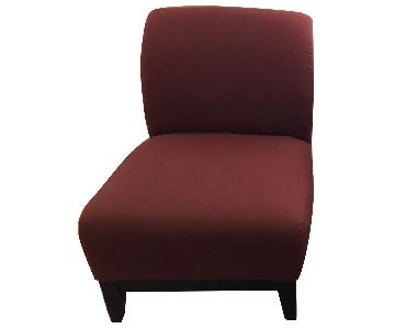 ABC Carpet & Home Modern Maroon Upholstered Chairs