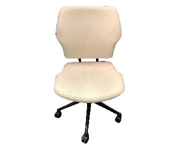Humanscale Freedom Task Chairs in White Leather