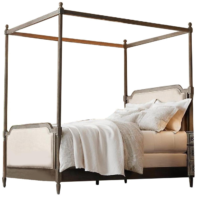 Restoration Hardware Vienne Queen Size Canopy Bed-12