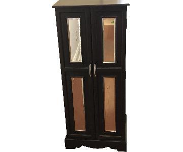 Dark Brown Wood Storage Cabinet