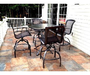Brown Jordan Round Bar Table w/ 4 Chairs