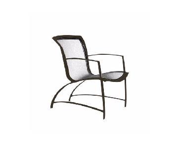 Brown Jordan Wave Lounge Chair & Ottoman + Quantum Table