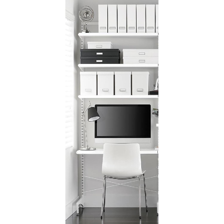 Elfa Freestanding Desk w/ Shelves & Storage Boxes
