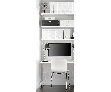 Elfa Freestanding Desk w/ Shelves & Storage Boxes