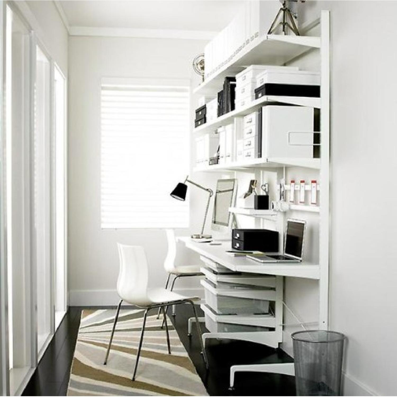Elfa Freestanding Desk w/ Shelves & Storage Boxes-1