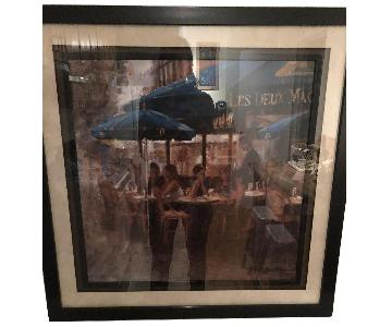 French Cafe Framed Photo