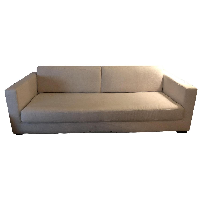 Restoration Hardware Modena Shelter Arm Sofa
