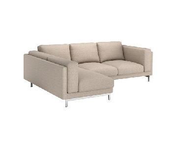 Ikea Nockeby Sectional Sofa w/ Left Chaise