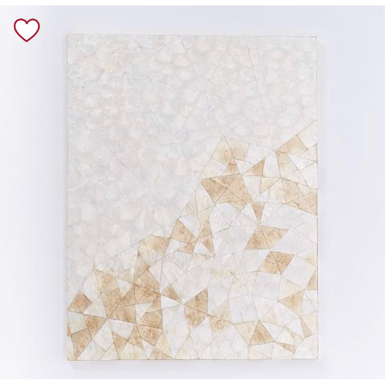 West Elm Capiz Wall Art - Crystal Formation-2