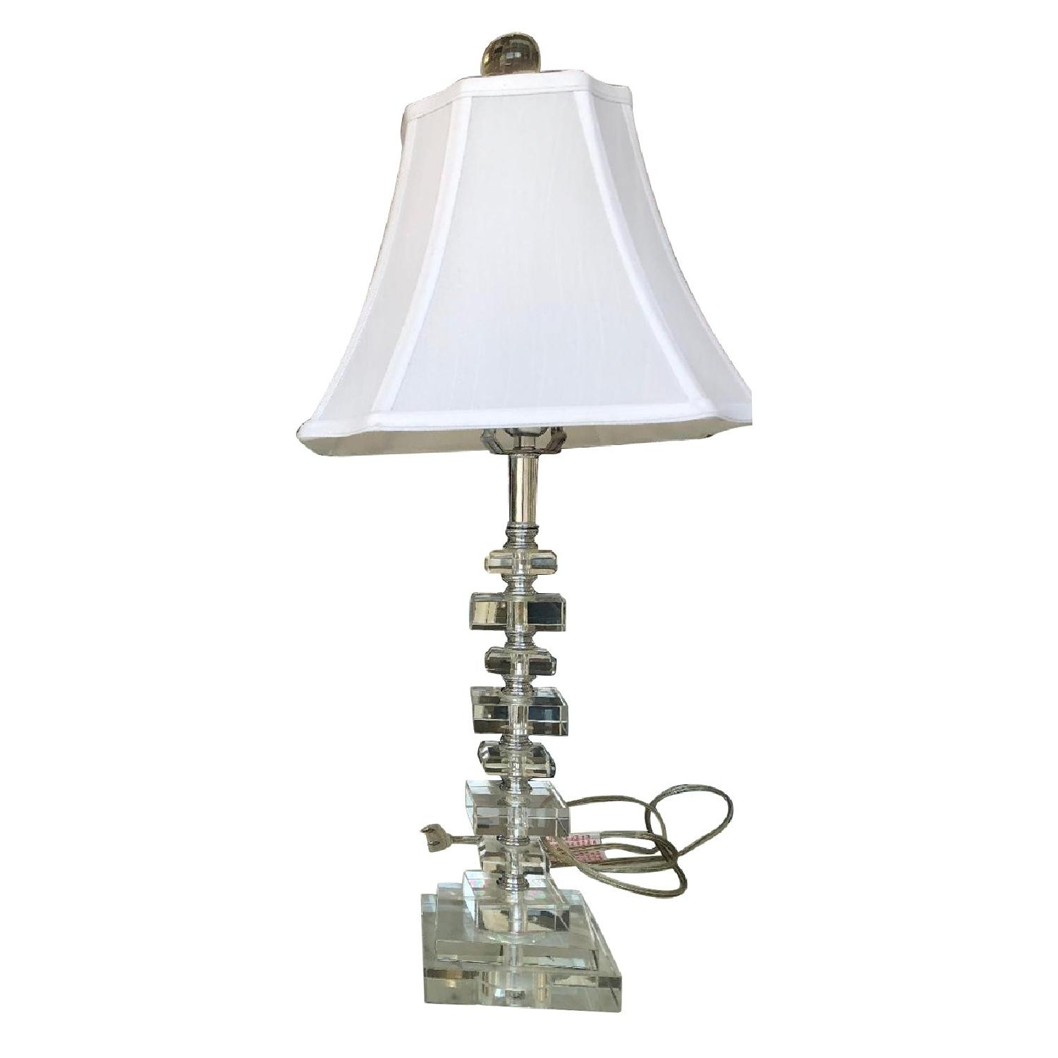 Horchow Stacked Acrylic Table Lamp
