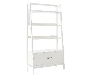West Elm Mid Century Bookshelf White