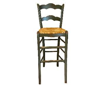Wood Barstools w/ Rush Seats