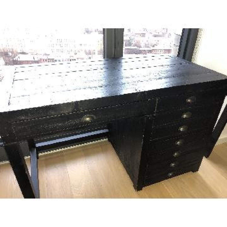 Restoration Hardware Printmaker's Wooden Desk-2