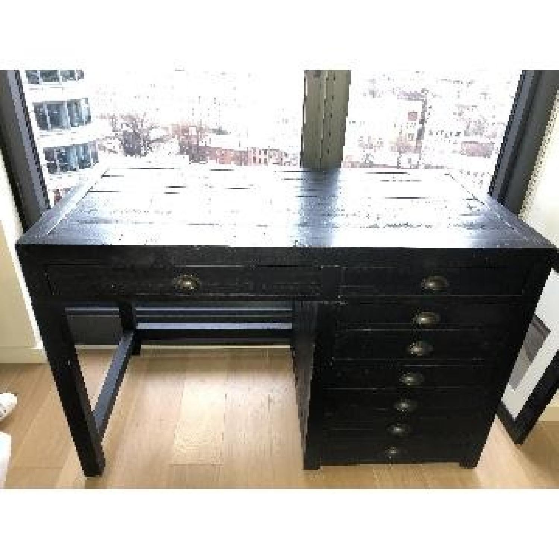 Restoration Hardware Printmaker's Wooden Desk-9