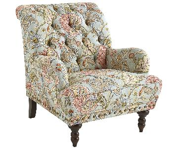 Pier 1 Floral Chair & Ottoman