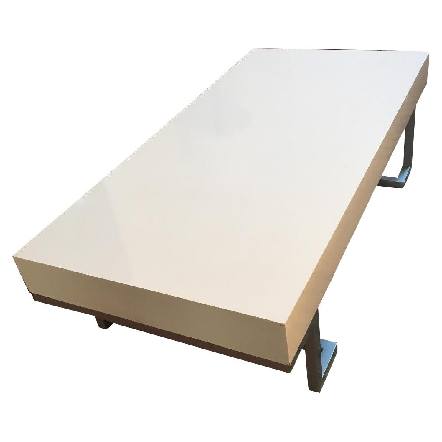 Contemporary White Lacquer Coffee Table