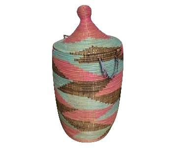 Hand-Woven African Storage Basket