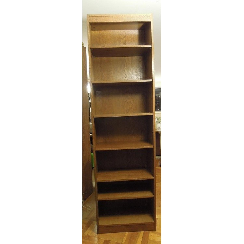 Narrow Wood Bookcase-0