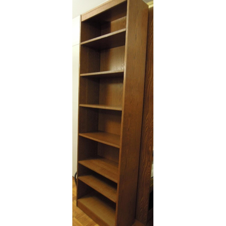 Narrow Wood Bookcase-1