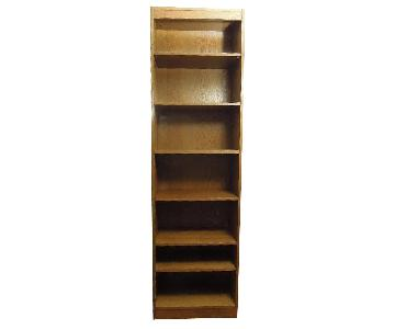 Narrow Wood Bookcase