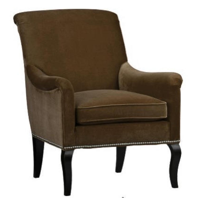 Crate And Barrel Savoir Velvet Upholstered Accent Chair Aptdeco