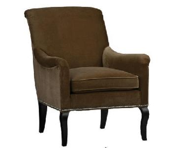 Crate and Barrel Savoir Velvet Upholstered Accent Chair