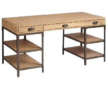 World Market Rustic Wood & Metal Teagan Desk
