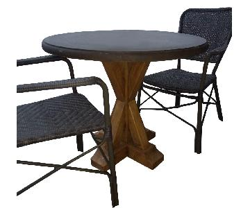 Arhaus Bordeaux Outdoor Table w/ 2 Chairs