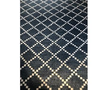 ABC Carpet and Home Madeline Weinrib Denim Blue Rug