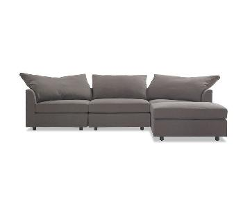 Mitchell Gold + Bob Williams Big Easy Sectional + 2 Ottomans