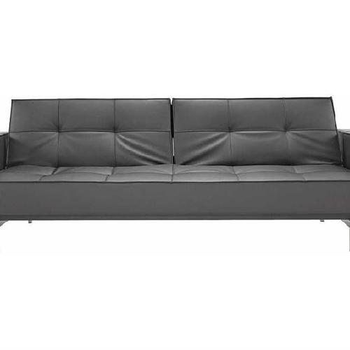Used Innovation Splitback Arm Sofa Bed w/ Stainless Steel Legs for sale on AptDeco