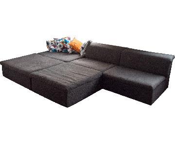 German Custom 5 Piece Sectional Sofa