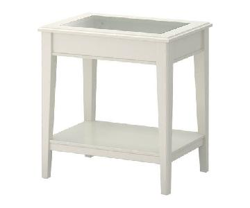Ikea Liatorp Side Table w/ Glass Inlay