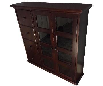 Small Mahogany Veneer Foyer Cabinet