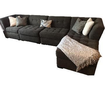Raymour & Flanigan 4-Piece Sectional Sofa